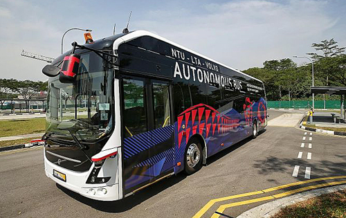 NTU has partnered with Volvo to test out Level 4 autonomous electric buses