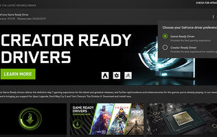 NVIDIA built a graphics driver specifically for content creators