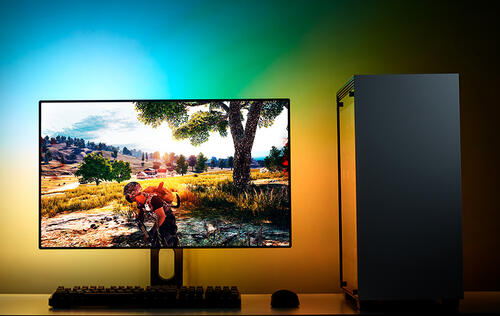NZXT's updated HUE 2 Ambient lighting kit will drench your workstation in RGB lights