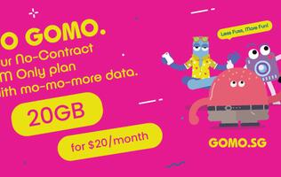Singtel's new 20GB for S$20/month GOMO plan is the best value SIM-only plan in Singapore