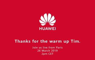 "Huawei thanks Apple CEO Tim Cook for the ""warm up"" before ""the main event"""