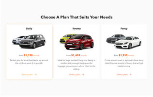 Carro introduces a car subscription service with prices beginning at S$1,199 per month