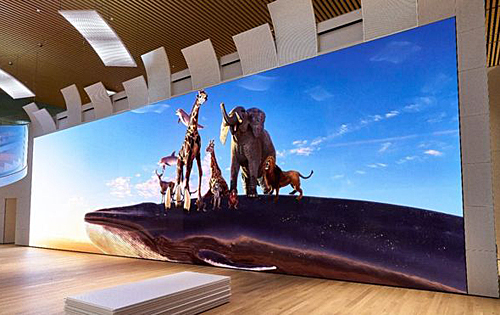 Sony has unveiled a 16K screen that's as tall as a giraffe!