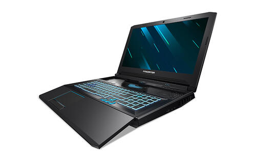 Acer's new Predator Helios 700 gaming laptop has a keyboard that slides out toward you