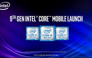 Intel's new 9th-generation mobile chips pack higher clock speeds and more cores