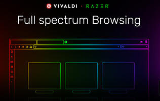 Vivaldi 2.5 is the first web browser with Razer Chroma integration