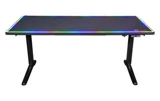 Thermaltake's Level 20 BattleStation RGB is an electric gaming desk with fancy lighting