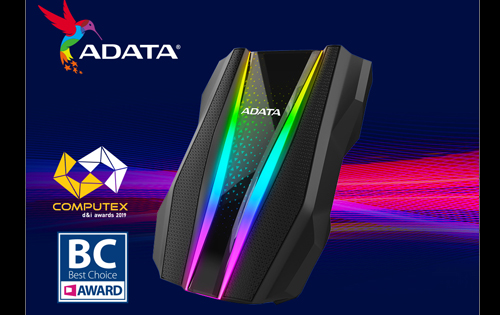 The ADATA HD770G is a military-grade ruggedized external HDD with RGB LEDs