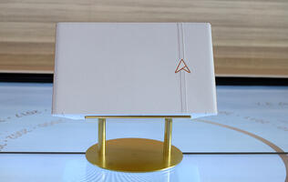 The ASUS ZenBook Edition 30 in pictures: All white Italian leather and gold