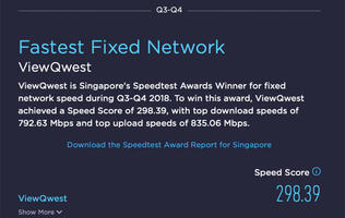 Speedtest: ViewQwest is Singapore's fastest ISP