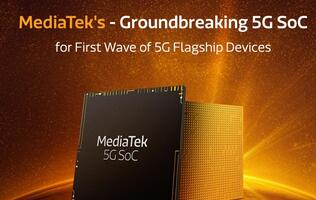 MediaTek unveils the first mobile chip with an integrated 5G chip