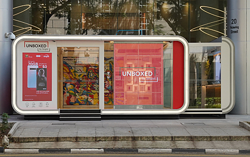 UNBOXED by Singtel is a 100% unmanned experiential pop-up concept store