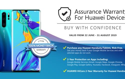 Challenger offers assurance warranty and money-back guarantee for Huawei devices