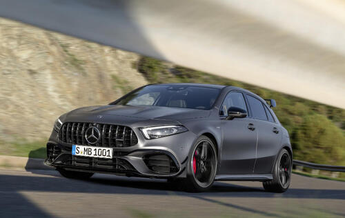 The Mercedes-AMG A45 S features the world's most powerful production 2-liter engine