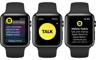 Walkie-Talkie on the Apple Watch has been disabled because Apple found a vulnerability