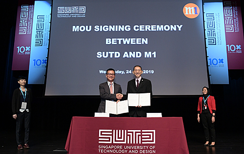 M1 and SUTD sign a MOU to collaborate on 5G robotics research and innovation