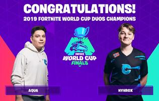 Aqua and Nyhrox combined to win the Fortnite World Cup Duos Finals!