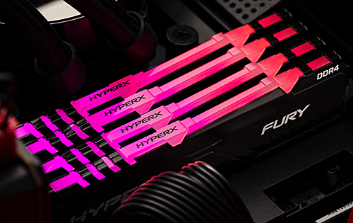 The new HyperX Fury DDR4 RAM comes with RGB lighting while keeping its low-profile heatspreaders