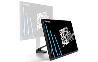 Samsung's 32-inch Space Gaming Monitor is massive, but it also helps you save space