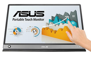 The ASUS ZenScreen Touch is a 15.6-inch portable monitor for on the go entertainment
