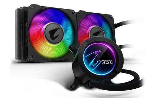 These Aorus liquid coolers come with customisable LCD displays