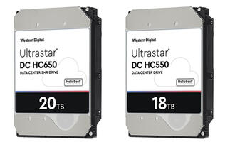 Western Digital unveils 18TB Ultrastar DC HC550 and 20TB DC HC650 HDDs for data centres