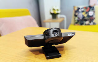 Go wall-to-wall with Jabra's new panoramic 4K webcam