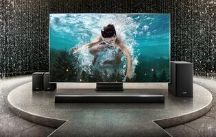 Experience true cinematic sound with the Samsung Harman Kardon HW-Q90R soundbar