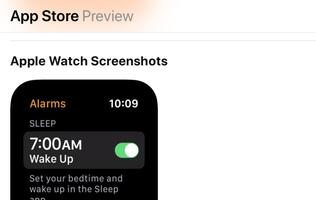 Unreleased Apple Watch Sleep app mentioned in Alarms app screenshot