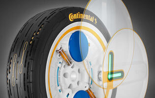 Continental has developed a tyre that inflates itself