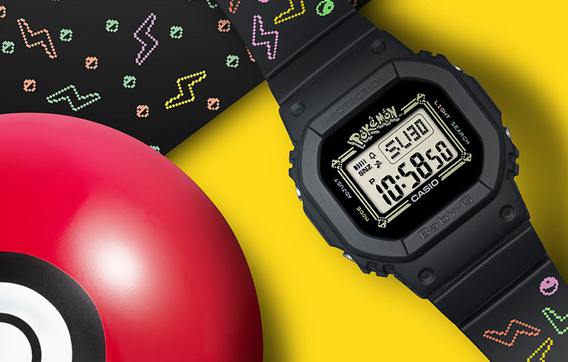 Casio is releasing a special Pokemon-themed Baby-G in celebration of Baby-G's 25th anniversary