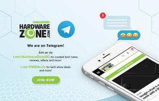 Join HardwareZone on Telegram to get the latest tech show deal alerts and tech news!