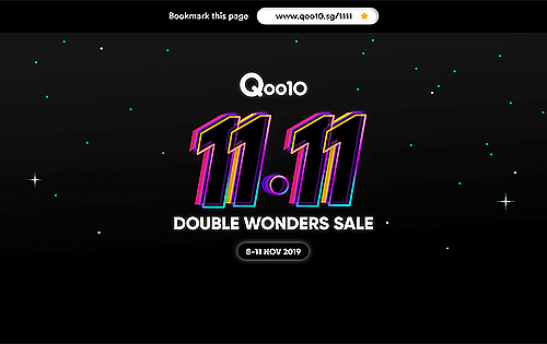 Deal Alert: Qoo10 super sale for Singles' Day 11.11