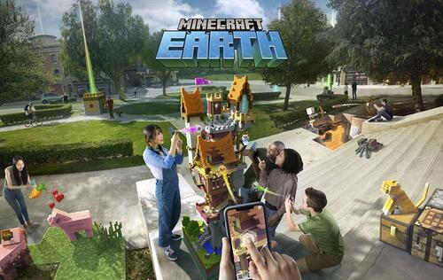 X019: Here's some more info on Minecraft Earth and Minecraft Dungeons