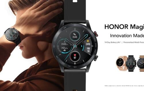 The Honor MagicWatch 2 has up to 14 days battery life, available from 12 Dec