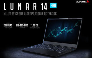 Aftershock's Lunar 14 Pro is an ultrabook with 24-hour battery life