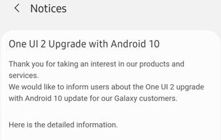 Samsung One UI 2 upgrade with Android 10 roadmap for smartphones revealed