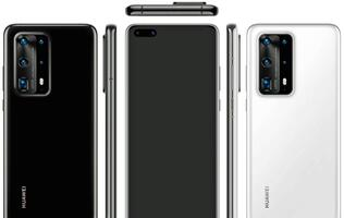 Purported render of Huawei P40 Pro reveal rear camera bump with 5 lens