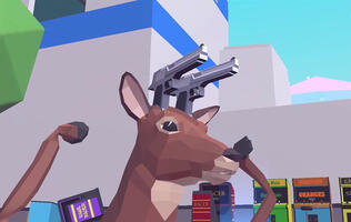 Deeeer Simulator is a perfectly normal game about a gun-toting deer with a mech