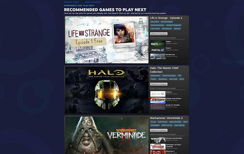 Let AI tell you which games to play next in your Steam library
