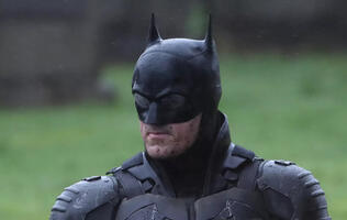 Set pictures of The Batman show off the full costume and it looks...interesting