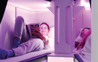 Air New Zealand is developing sleeping pods for economy-class flights