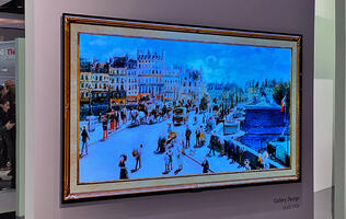 LG's Gallery GX 4K OLED TV is very thin, has a far-field mic, and supports G-Sync and FreeSync