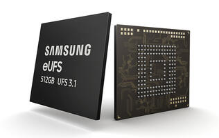 Samsung has started to mass produce 512GB eUFS 3.1 for high-end smartphones