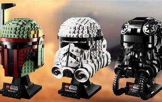 LEGO has unveiled the first wave of buildable Star Wars model helmets