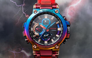 "This kaleidoscopic wonder is the new G-Shock MTG-B1000VL ""Volcanic Lightning"" (Updated)"