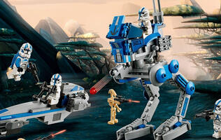 Lego has revealed a 285-piece 501st Legion Clone Trooper battle pack