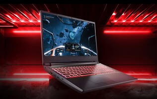 Aftershock's Forge 15 Red laptop can be outfitted with the 16-core AMD Ryzen 3950X
