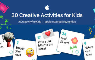 Apple's team of educators have come up with a 30-day activity plan for kids