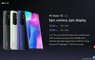 Xiaomi brings flagship quality to all with the Mi Note 10 Lite